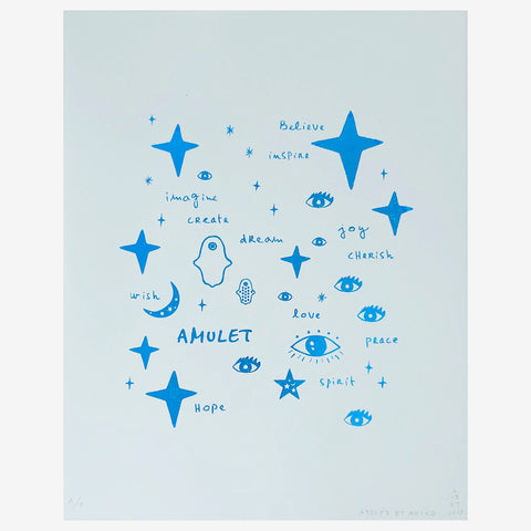 Wall Art - Team Amulet in Blue Foil