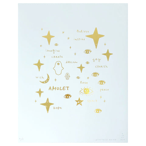 LOVE Wall Art in Gold Foil