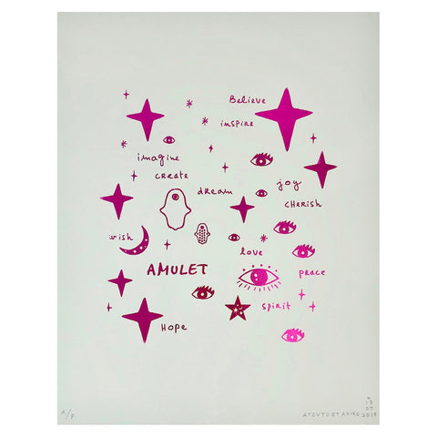 Wall Art - Team Amulet in Pink Foil