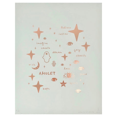 Wall Art - Team Amulet in Rose Gold Foil