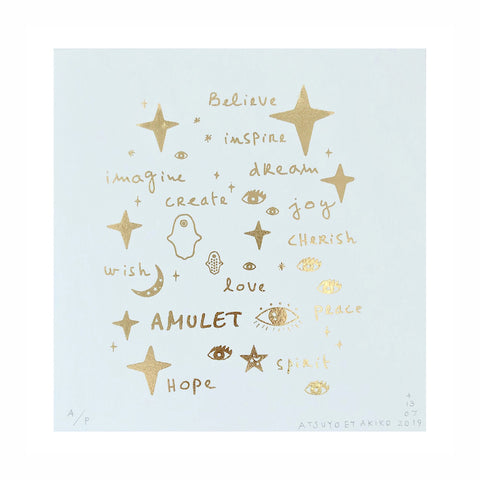 Wall Art - Team Amulet in Gold Foil