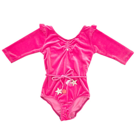 Cosmic Star Leotard in Pink