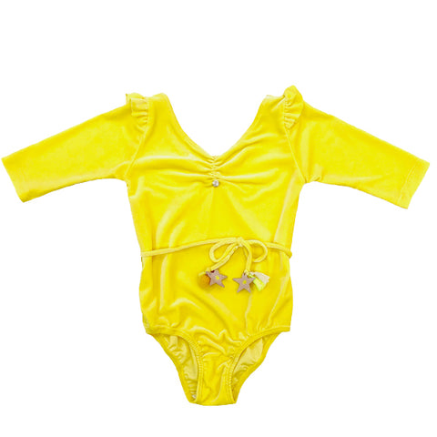 Cosmic Star Leotard in Yellow