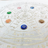 The Wheel of Chakra Healing Kit - Natural in Gold foil print