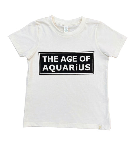 The Age of Aquarius  Crew Tee in Natural/Black