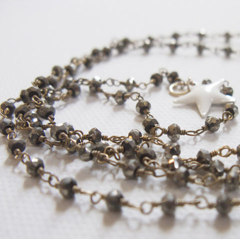 NECKLACE - MiLKY STAR - PYRiTE