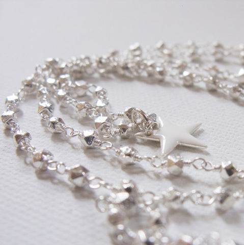 NECKLACE - MiLKY STAR - SiLVER