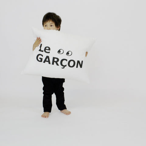CUSHiON - GRAND - Le GARÇON in MiLKY WHiTE ( COVER ONLY )