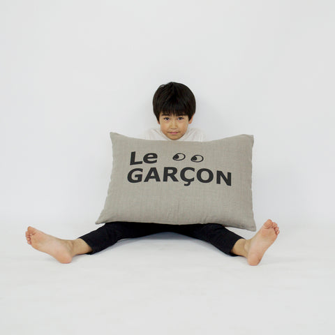 Le Garçon Grand Cushion in Coconut (Cover Only)