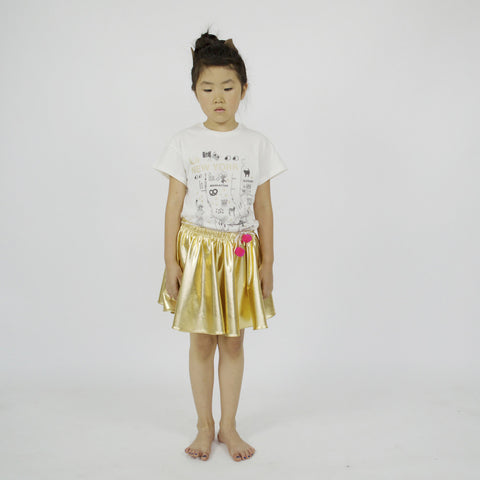 TEE - LARA SHORT SLEEVE - La NEW YORK in GOLD