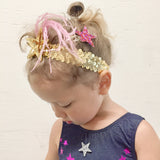 HAiR PiN - GLiTTER STAR - LEO PiNK