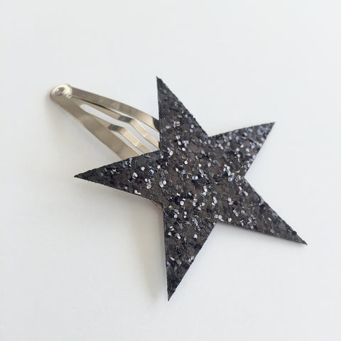 HAiR PiN - GLiTTER STAR - BLACK
