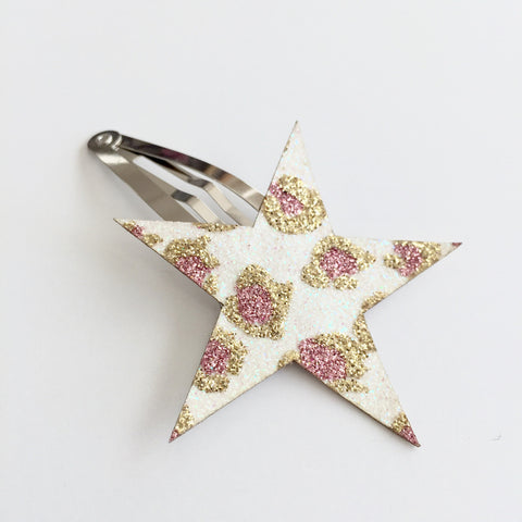 HAiR PiN - GLiTTER STAR - LEO GOLD