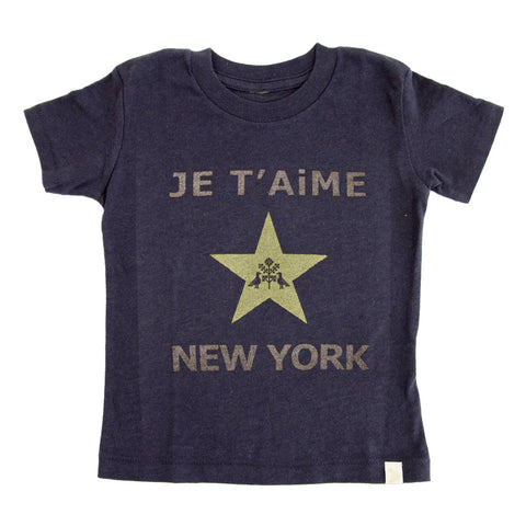 Crew Tee - JE T'AiME ★ NEW YORK in Charcoal