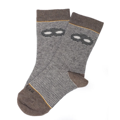 DEAR SANTA - X'mas STOCKiNG iN DARK GRAY HERRiNGBONE