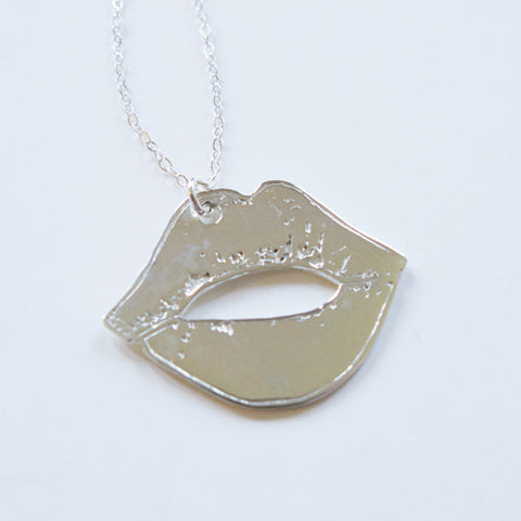 Lips Necklace - Sterling Silver