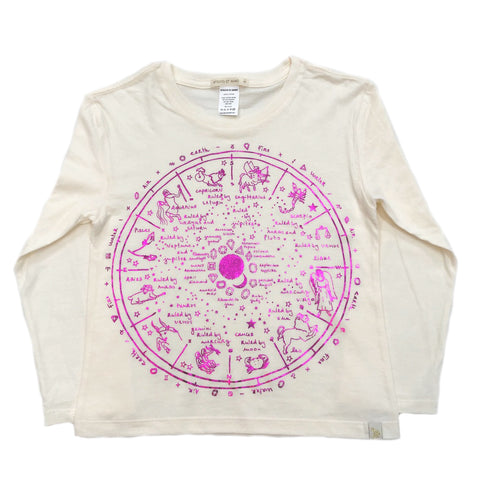AA-The Wheel Of Life in Lara Long Sleeve Tee in Natural-Pink Foil