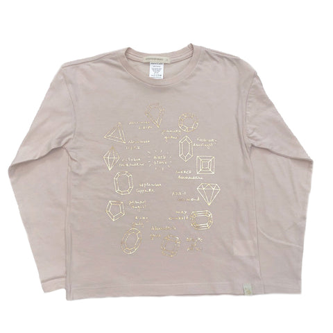 AA-Birthstone in Lara Long Sleeve Tee in Pink