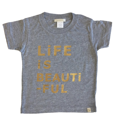 Tri Blend Tee - LiFE iS BEAUTiFUL in Gray