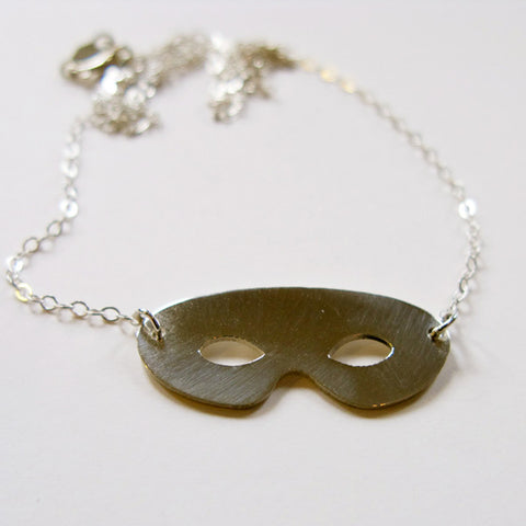 Mask Sterling Silver Necklace