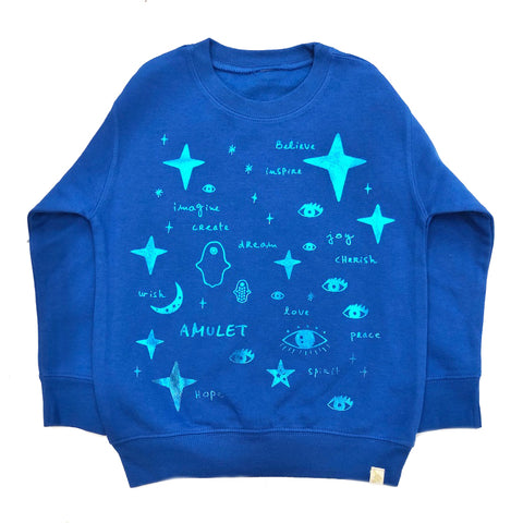 AA-Team Amulet Fleece Long Sleeve Pullover in Blue