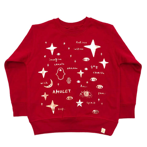 AA-Team Amulet Fleece Long Sleeve Pullover in Red