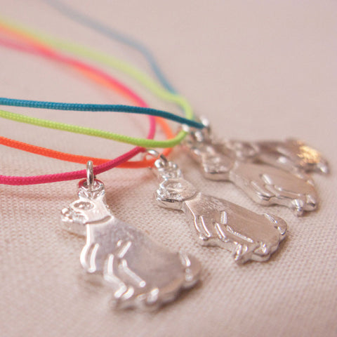 Rabbit Flu String Necklace - Sterling Silver