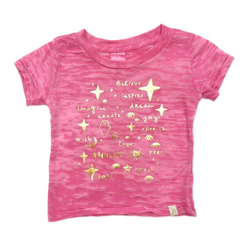 AA-Team Amulet Burnout Tee in Pink