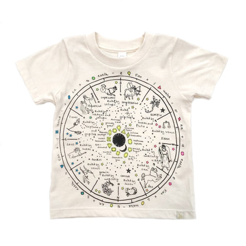 AA-The Wheel of Life in Natural Crew Tee