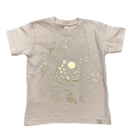 AA-Zodiac in Natural Crew Tee
