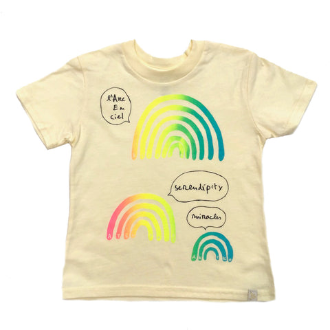 AA- L'arc en Ciel Crew Tee in Yellow