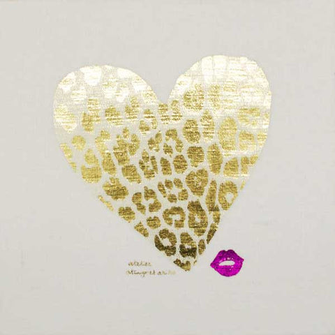 WALL ART - LEO HEART with gold foil print