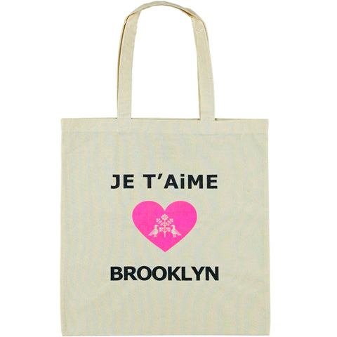 Je t'aime Brooklyn Lightweight Cotton Bag