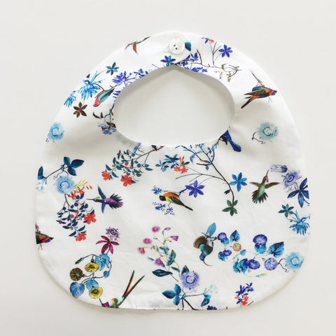 BiB - MAKiE - WiTH BUTTON-FLOWERS(BLUE)
