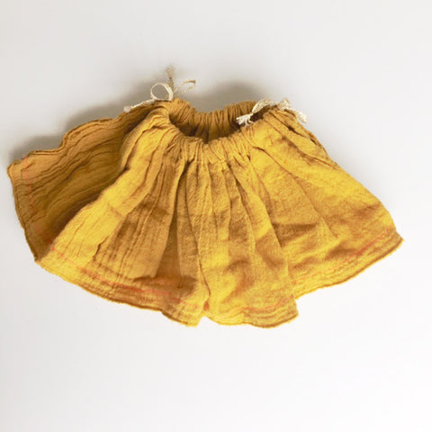 DOLL COTTON SKiRT - MUSTARD