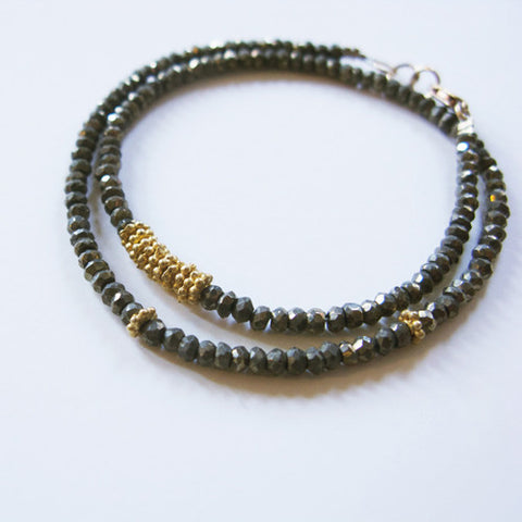 Gem Flora Bracelet in Pyrite