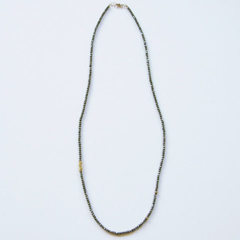 NECKLACE - GEM FLORA-PYRiTE
