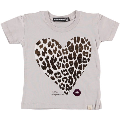 TEE COTTON CREW - LEO HEART
