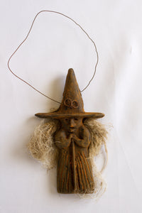 Primitive Witch Ornament