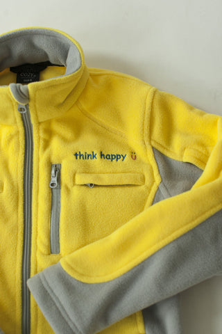 Girls' Yellow Chemo Cozy Fleece Jackets with PICC Line and Port Access for Pediatric Cancer Patients