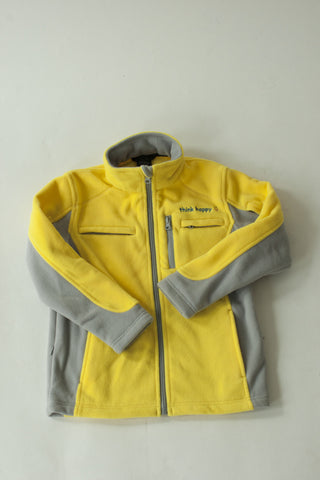 Chemo Cozy Yellow Fleece Jacket with PICC Line and Port Access for Pediatric Cancer Patients