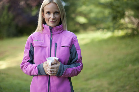 Women's Polar Fleece Jacket - Pink