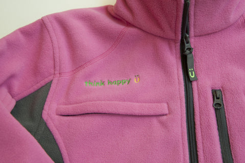 Women's Pink Chemo Cozy Fleece Jackets with PICC Line and Port Access for Chemotherapy Infusions