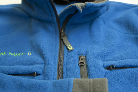 Men's Polar Fleece Jacket - Blue