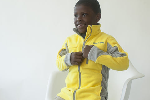 Boys' Fleece Jacket - Yellow