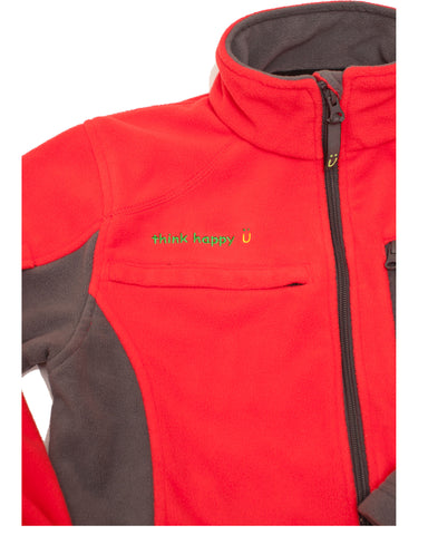 Men's Red Chemo Cozy Fleece Jackets with PICC Line and Port Access for Chemotherapy Infusions