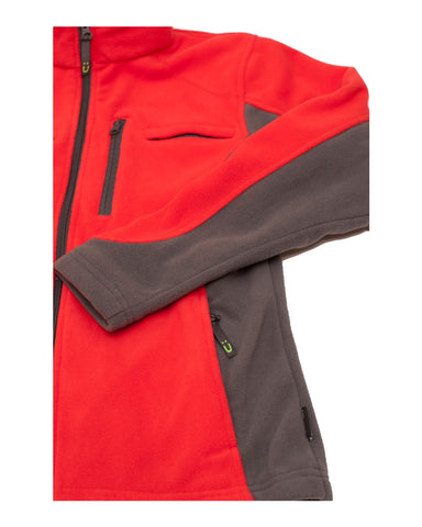 Men's Polar Fleece Jacket - Red