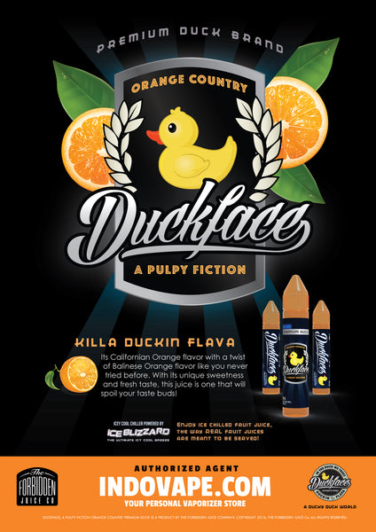 Duckface Orange Country Poster, A Pulpy Fiction