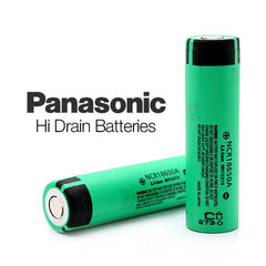 Panasonic Hi Drain Batteries NCR18650A