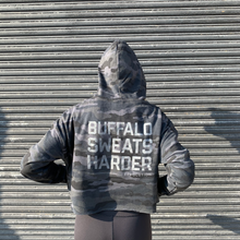 Load image into Gallery viewer, Buffalo Sweats Harder™ Cropped Hoodie - Camo